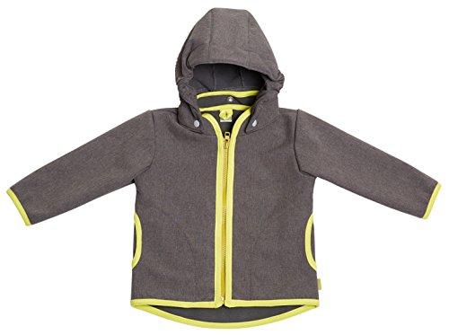 be! Baby/Kinder Softshell Jacke mit Leichter Fleece-Schicht innen, Wassersäule: 10.000 mm, Gr. 98/104, grau-Melange