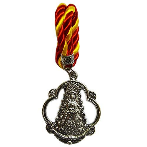 Cuelga Coche Virgen del Rocío. Cordón España. Medida Total: 16,5cm
