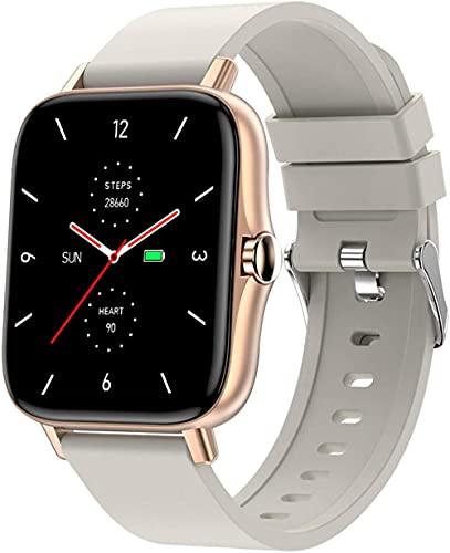 Reloj inteligente de 1.7 pulgadas, reloj inteligente sin frontera, pantalla grande de alta definición, IP67, impermeable, monitor de ritmo cardíaco, multifuncional, reloj deportivo