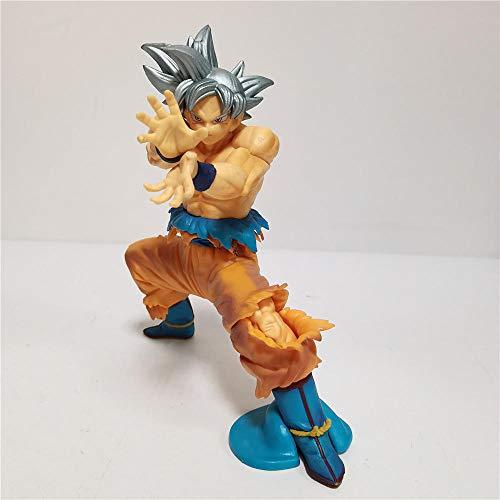 Henypt Figura Acción Modelo PVC Figuras De Anime Son Goku Ultra Instinct PVC Toys Modelo De Acción Gokusaiyan 15Cm Estatua Modelo Decoración PVC Colección Decoración Artesanía