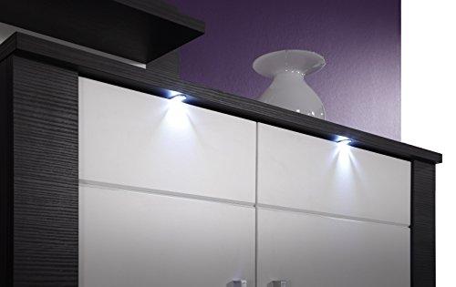trendteam XP98710 Wohnwand Anbauwand Wohnzimmerschrank Xpress Esche grau Nachbildung und Fronten in weiß Nachbildung, 308 x 197 x 51 cm - 3