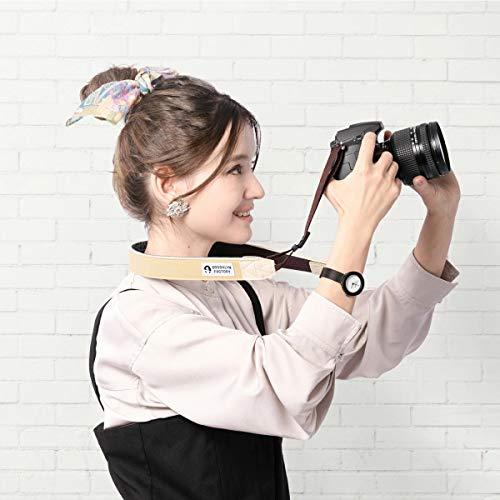 ブルックリンファクトリーカメラストラップ一眼レフかわいいおしゃれミラーレス男女兼用ニコンキャノン対応NUTSブラウンストーン