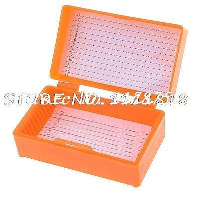 8cm x 4.5cm Chemical Experiment 12 Slides Microscope Box Orange