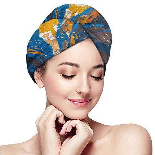 Xarchy Bonnet pour Cheveux secs à Motifs, Fantasy, Tiger Striped in City