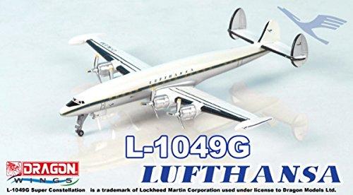 Dragon Wings 55478 - Lufthansa L-1049G Super Constellation Tin Box - maßstab 1/400 - Modell aus montiertem und lackiertem Metall