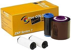 Zebra Technologies 800077-742 True Colors IX Series Color Ribbon for ZXP Series, 7 Compatible, Ymcko, 750 Labels per Roll
