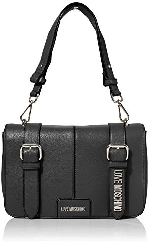 Love Moschino Borsa Pebble Grain Pu, Spalla Donna, Nero (Nero),...