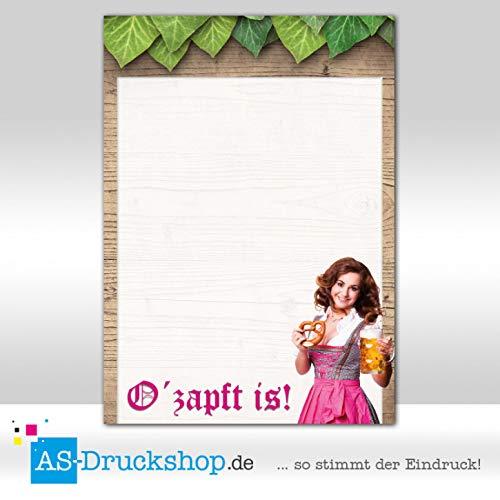 Designpapier Oktoberfest - vrouw met roze schort / 50 vellen/DIN A4 / 90 g offsetpapier