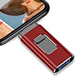 USB Flash Drive for iPhone Photo Stick 1TB Memory Stick USB 3.0 Flash Drive for iPhone and Computer (1TB,RED)