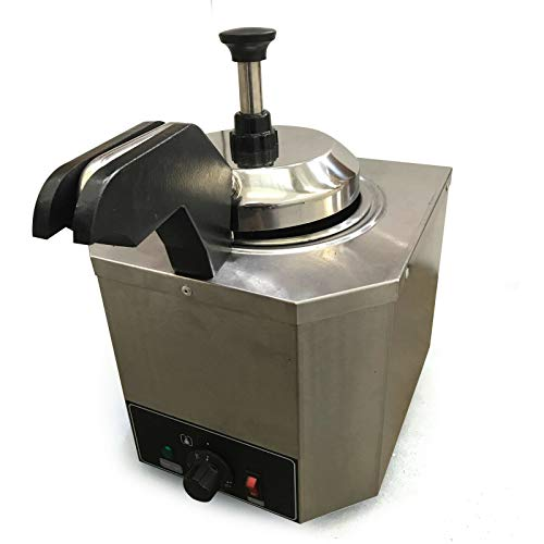 Dispensador de salsas, de acero inoxidable, 2,5 l, dispensador de muestra, dispensador de nata, postqueso, mantequilla de caramelo, postre, queso o chocolate
