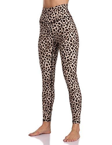 Colorfulkoala Women's High Waisted Pattern Leggings Full-Length Yoga Pants (S, Leopard)