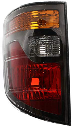 Tail Light Lens and Housing Compatible with 2006-2008 Honda Ridgeline USA Built Driver Side