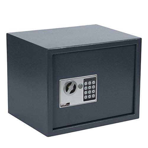 OfficeForce® Wandtresor 380 mit digitalem Zahlenschloss/Codeschloss, Safe, Tresor, Geldschrank, Stahlschrank, Geldsafe, Geldtresor, Panzerschrank, Dokumententresor, Möbeltresor (20106)