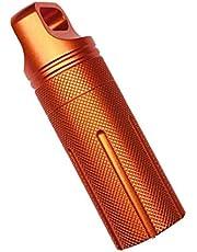 Resistente Al Agua De La Botella De La Cápsula Sellada Caja De Almacenamiento Del Tanque De Orange Para La Actividad Al Aire Libre Que Va De Excursión