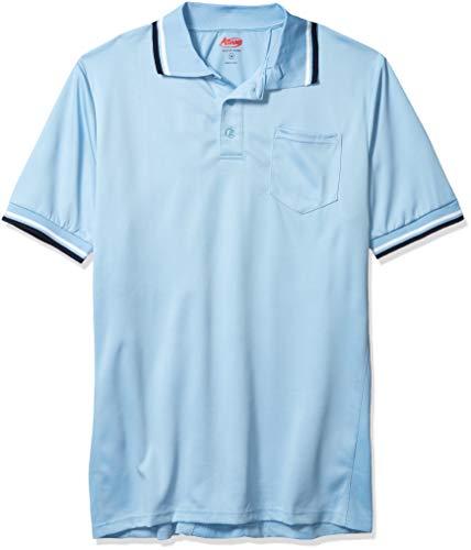 Adams Baseball and Softball Umpire Shirt with Back Vent, Powder Blue, Medium
