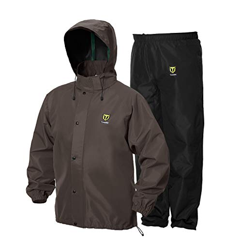 TideWe Rain Suit, Breathable Waterproof Durable Sport Rainwear (Brown Size L)