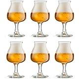 Libbey Bicchiere da birra Iseo - 41 cl / 410 ml – set di 6 pezzi – a calice - ideale per la degustazione della birra