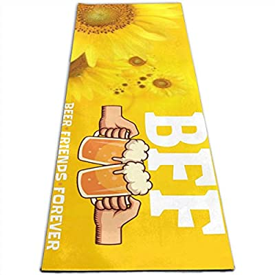 753 Drumbeat Drinking Team BFF Yoga Mat Pilates Mat-Eco Friendly Non-Slip-with Carrying Strap