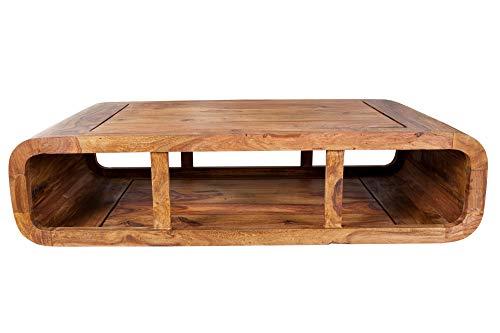 DuNord Design Natuur kubus TV Eenheid 100 cm Sheesham massief hout salontafel houten tafel natuurlijke