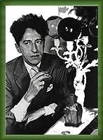 ポスター コムデギャルソン Comme des garcons Sixth sense Jean Cocteau 額装品 ウッドベーシックフレーム(グリーン)