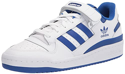 adidas Originals Men's Forum Low Sneaker, White/White/Team Royal Blue, 4