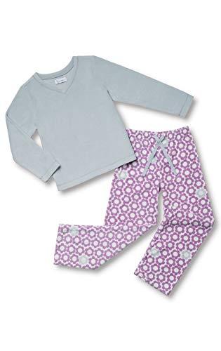 PajamaGram Cozy Fleece Pajamas Girls - Girls Pajama Sets, Lavender Flower, 6
