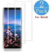 (2 - Pack) Samsung Galaxy Note 8 Screen Protector,hairbowsales [HD Clear][Anti-Bubble][9H Hardness][Anti-Scratch][Anti-Fingerprint] Tempered Glass Screen Protector Compatible Note 8