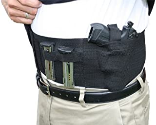 AlphaHolster Belly Band Hand Gun Holster - Abdomen Holster - Cross Draw - Any Gun - Any Clothing - Right or Left Hand - Men or Woman