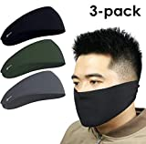 2in1 Headband & Face Mask, Stay Dry and Protected from Dust, Aerosoles & Elements, Performance Sweatband