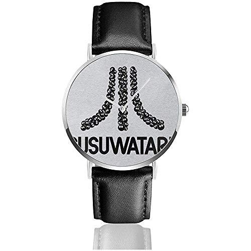 Consola de Juegos Unisex Susuwatari Atari Logo Relojes Reloj de Cuero de...