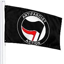 Flagge, 90 x 150 cm, Motiv Antifascist Action von AIJEESI