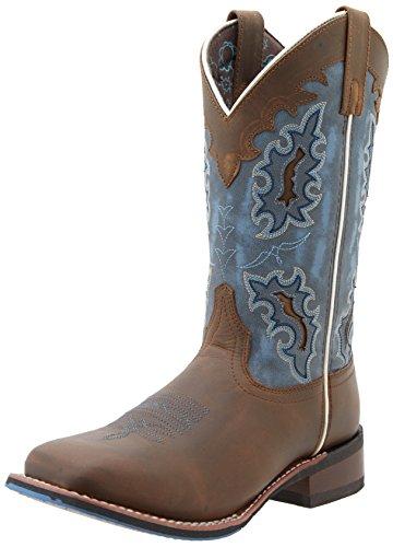 Laredo Women's Isla Western Boot, Tan/Blue, 8 M US