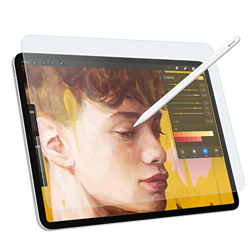 MoKo PET Screen Protector Compatible with iPad Pro 12.9 2021/2020/2018, Anti-scratch Anti-Glare Draw and Sketch with the Pencil Like on Paper for iPad Pro 12.9 inch Tablet