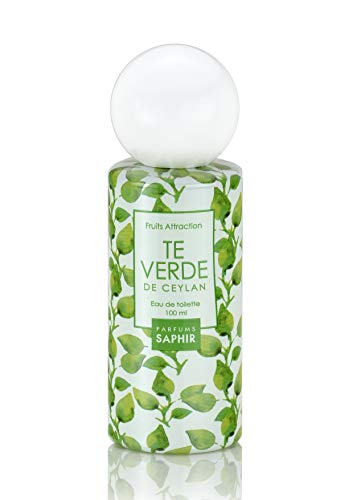 PARFUMS SAPHIR Fruit Attraction Té Verde Eau de Toilette para Mujeres - 100 ml