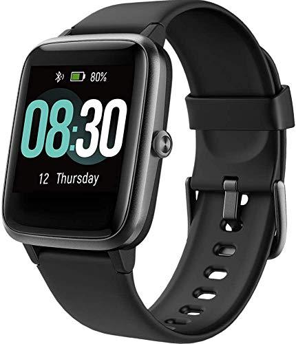 UMIDIGI Reloj Inteligente Uwatch3 Smartwatch 5ATM Impermeable con Cronómetro Pulsera Actividad Inteligente Reloj de Fitness con Podómetro Smartwatch Mujer Hombre niños para iOS y Android [Nergo]