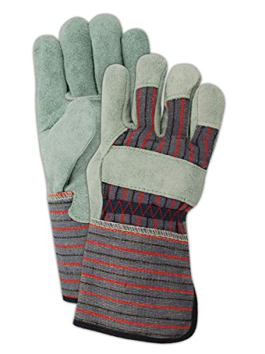 Magid Glove & Safety TG725IEXL Magid DuraMaster TG725IE Shoulder Split Leather Palm Gloves, 11, Gray, XL (Pack of 12)