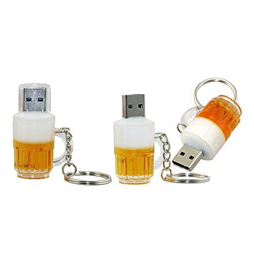 128GB modello di memoria flash usb 2.0 il boccale di birra chiavetta usb flash drive u disco la penna usb chiavetta usb flash disk scheda di memoria usb (Yellow)