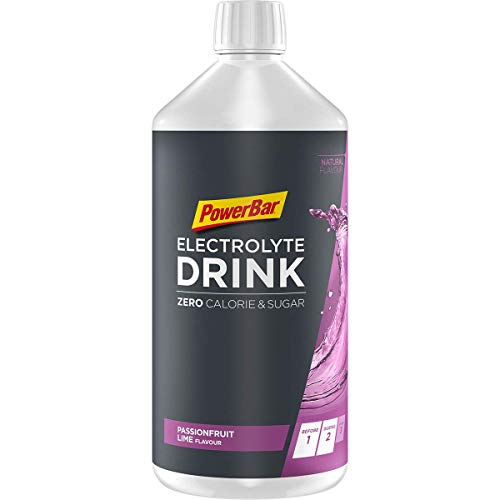 Powerbar Elektrolyte Drink Passionfruit Lime 1000ml - Isotonisches Sportgetränk - 5 Elektrolyte + C2MAX