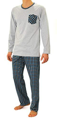 Sesto Senso® Pijama Hombre Largo Inverno clásico 100%
