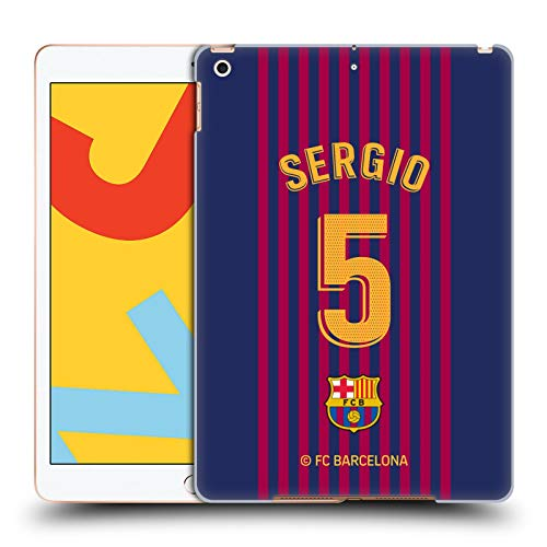 Official FC Barcelona Sergio Busquets 2018/19 Players Home Kit Group 1 Hard Back Case Compatible for iPad 10.2 (2019)