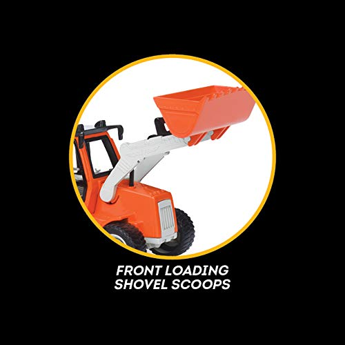 DRIVEN by Battat – Micro Backhoe Loader – Backhoe Loader with Sound Effects and Movable Parts for Kids Aged 3+