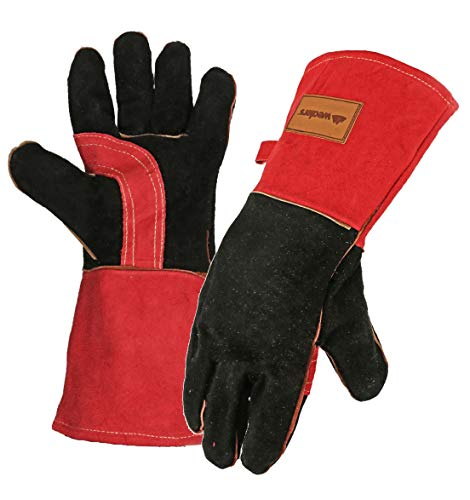 Wealers Premium Quality BBQ Gloves Professional Extreme Heat Resistant Grill and Oven Mit Use for Barbecue Cooking Baking Smoking or Potholder