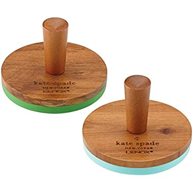 KSNY All in Good Taste Wood Cookie Press, Brown, Set of 2
