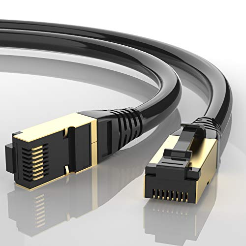 AUCAS Cable Ethernet Cat 8, conectores RJ45 Eben 26AWG Cat8, cable de red de alta velocidad para juegos, PS4, Xbox One, módem, router de PS3, PC, Mac, módem, juegos (0,5 m)