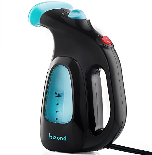 BIZOND Steamer for Clothes Mini - Portable, Handheld Garment Steamer for Travel and Home - No Spitting, Works at All Angles - Best Ironing Steamer for Clothing