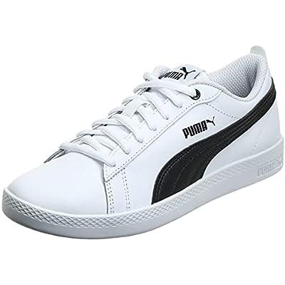 PUMA Smash Wns v2 L, Zapatillas Bajas Mujer, Blanco (White/Black), 38 EU