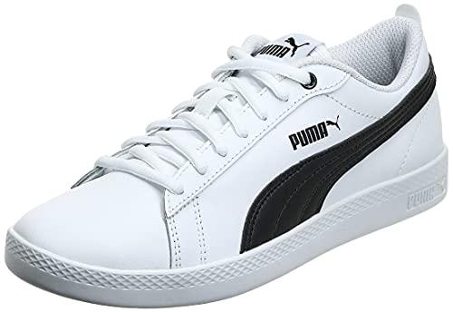 PUMA Damen Smash WNS v2 L Sneaker, White Black, 38 EU