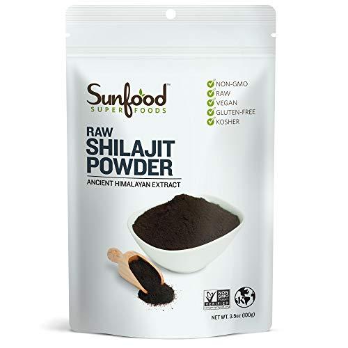 Sunfood Superfoods Raw Shilajit Powder 100% Pure 3.5 oz Bag