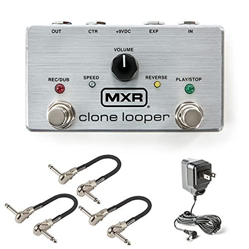 MXR M303 Clone Looper Pedal Bundle with 3 MXR Patch Cables