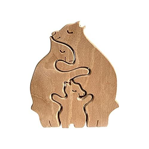 Escultura de madera con forma de animales, para decoración del hogar, oficina, escritorio, personas creativas, regalos para niños, decoración del hogar, artesanía